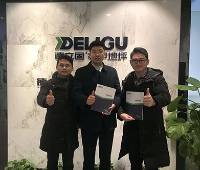 恭喜宜昌宜都韩总加盟德立固装甲地坪项目